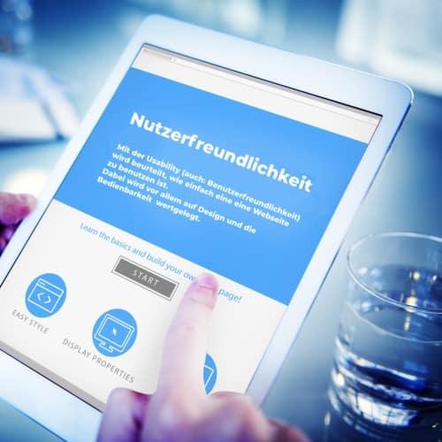 Usability benutzerfreundliche Webseite