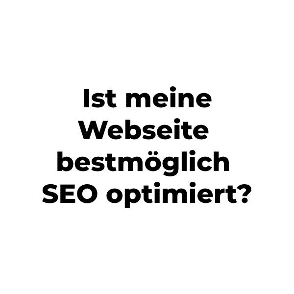 Webseite bestmöglich optimiert