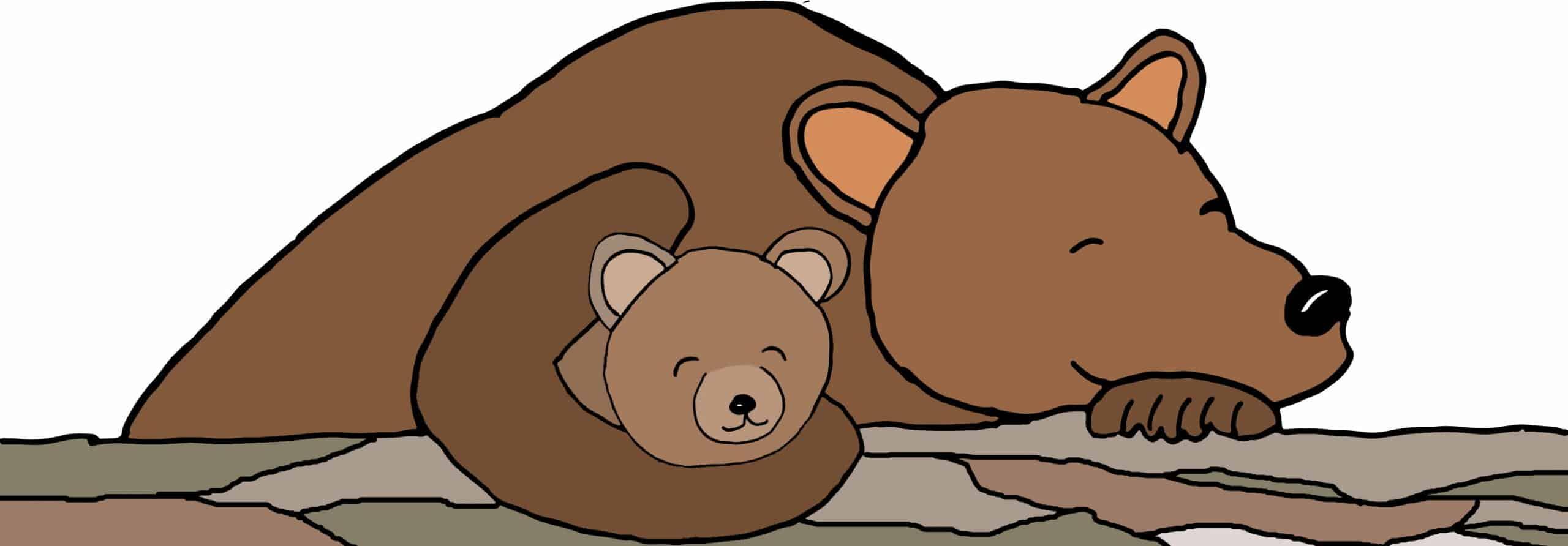 Contentbären schlafen